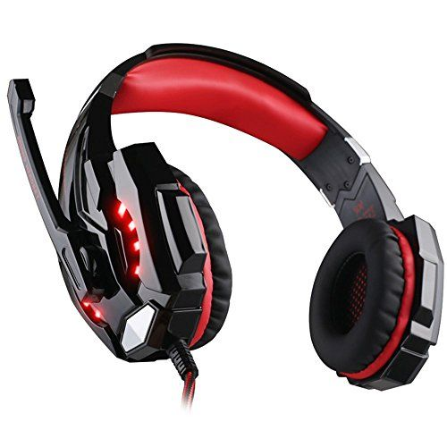 Special Offers - [Newer Version]VersionTech G9000 LED Surround Gaming Headphones Bass Stereo Headset with Mic for PS4 Games (Mac PC Computer Laptop Cell Phone CompatibleRed) - In stock & Free Shipping. You can save more money! Check It (November 30 2016 at 08:02PM) >> http://eheadphoneusa.net/newer-versionversiontech-g9000-led-surround-gaming-headphones-bass-stereo-headset-with-mic-for-ps4-games-mac-pc-computer-laptop-cell-phone-compatiblered/