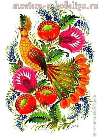 Роспись по дереву: Секреты петриковской росписи. Часть 5 - Листья и травинки