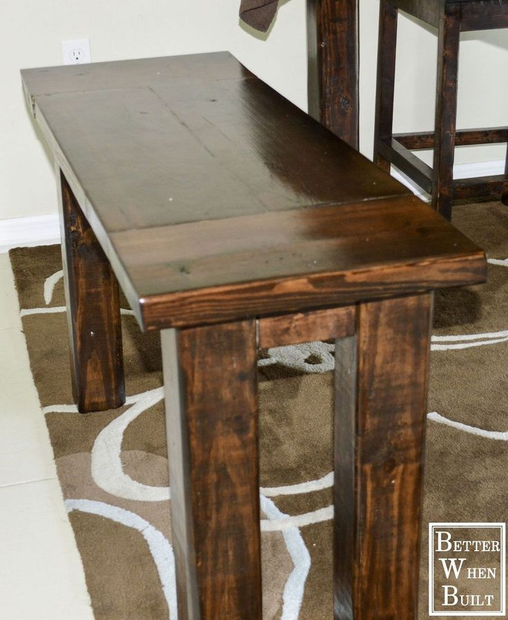 Best 25 counter height bench ideas on pinterest bar height bench breakfast bar stools and - Kitchen bench diy ...