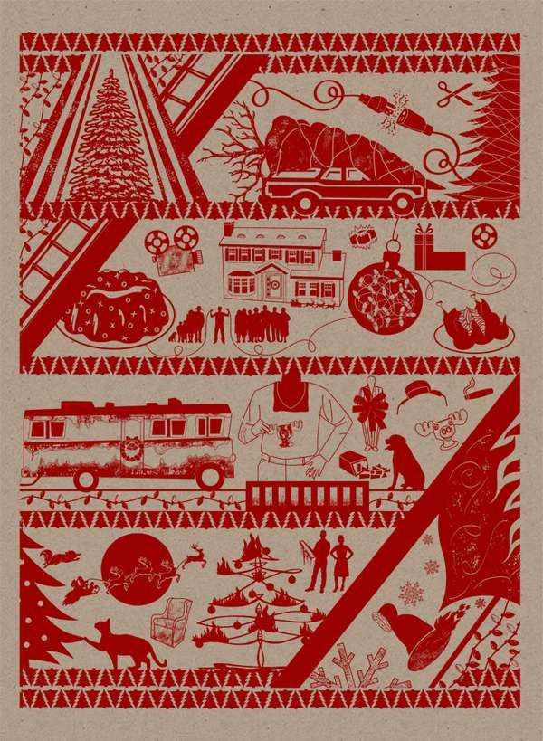 Christmas Vacation Wrapping Paper Will Make You Miss the Griswolds trendhunter.com