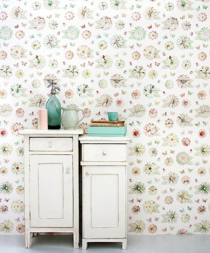 Flowers   Papel de parede design   Papéis de parede adicionais   Papel de parede dos anos 70