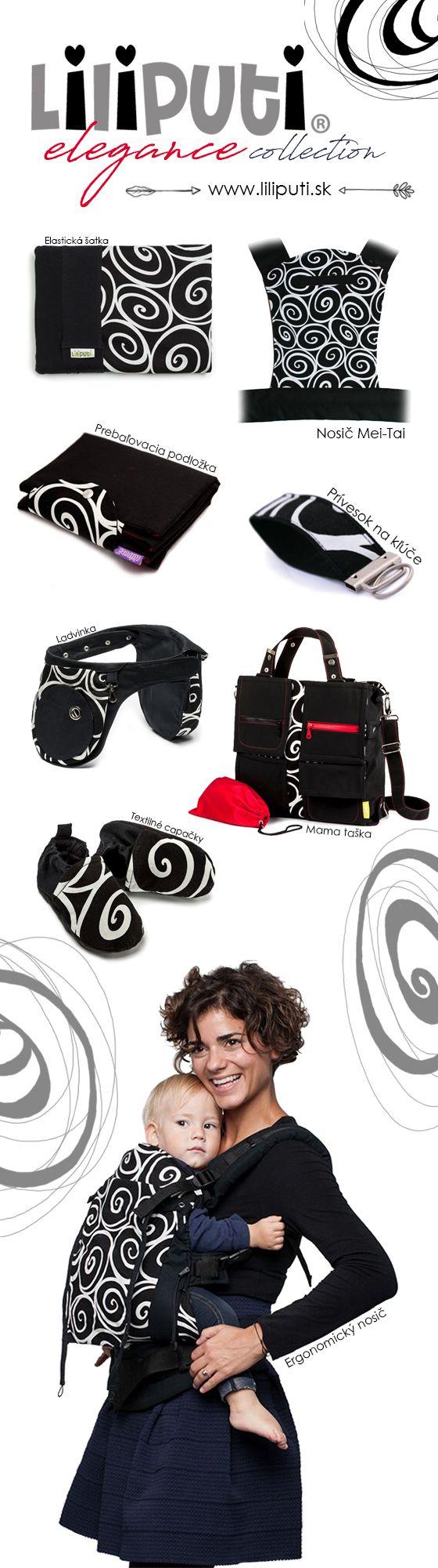 Kolekcia Liliputi - Elegance - Pre elegantné ženy, milujúce čierno-biele kombinácie. Všetky produkty kolekcie nájdete tu: https://www.liliputi.sk/elegance/