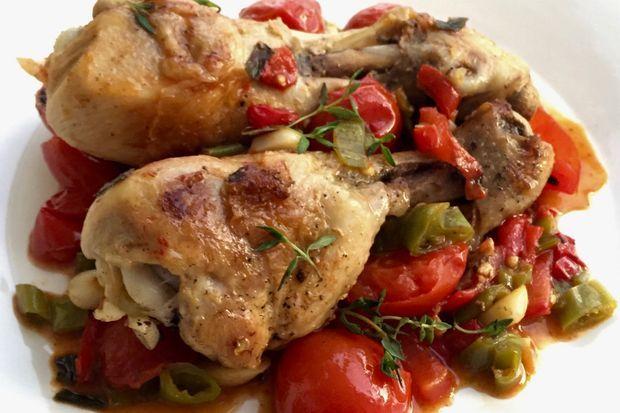 Çeri domatesli kekikli piliç but- Chicken w/ thyme &cherry tomatoes