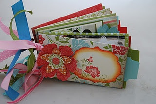TP roll, mini book: Mini Album, Scrapbook Paper, Fabric