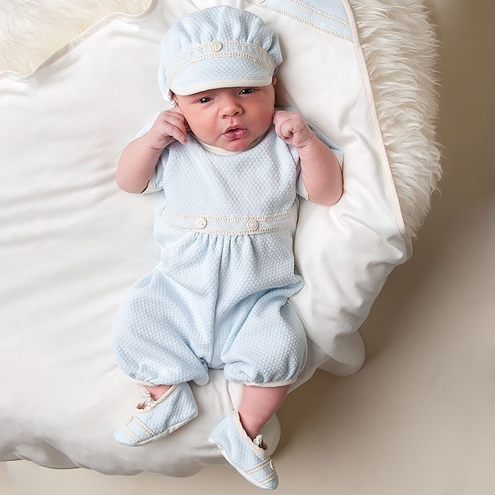 The Couture Baby specializes in boys clothes too! From Layette, Onesies, Take Me Home Sets, Blankets, Birthday Outfits and Bibs, we can customize anything to your style!