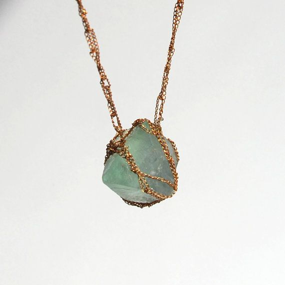 gorgeous crocheted crystal necklace from fort.