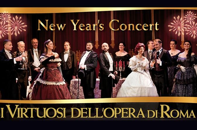 I Virtuosi dell'opera di Roma: New Year's Concert 			I Virtuosi dell'opera di Roma greet the new year with an exceptional event: a lyrical concert enriched by famous valzer and Christmas songs. Introducing  the Soprano Singer S. Leone, il Mezzosoprano I. Bottaro, il Tenore D. Penco ed il Baritono M. Utzeri. 					Since 20 years the traditional New Year's Eve concert in Rome: unforgettable costumes, opera arias, Viennese Valzer and Christmas songs in the suggestive Church of Sai...