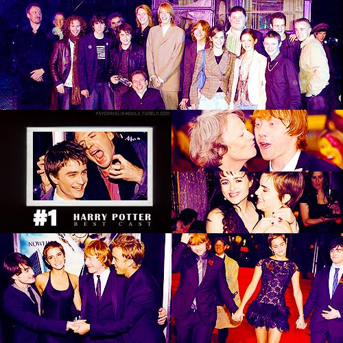 20 BEST CAST#01 ϟ Harry Potter (Daniel Radcliffe, Emma Watson, Rupert Grint, Tom Felton, Evanna Lynch, Bonnie Wright, Matthew Lewis, Helena Bonham Carter, Ralph Fiennes, Jason Isaacs, Alan Rickman, Maggie Grace, Bill Nighy, Gary Oldman, David Thewlis, James & Oliver Phelps, Robbie Coltrane, Michael Gambon) NOTHING IN THE WORLD IS ENOUGH TO EXPRESS HOW MUCH I LOVE THEM.