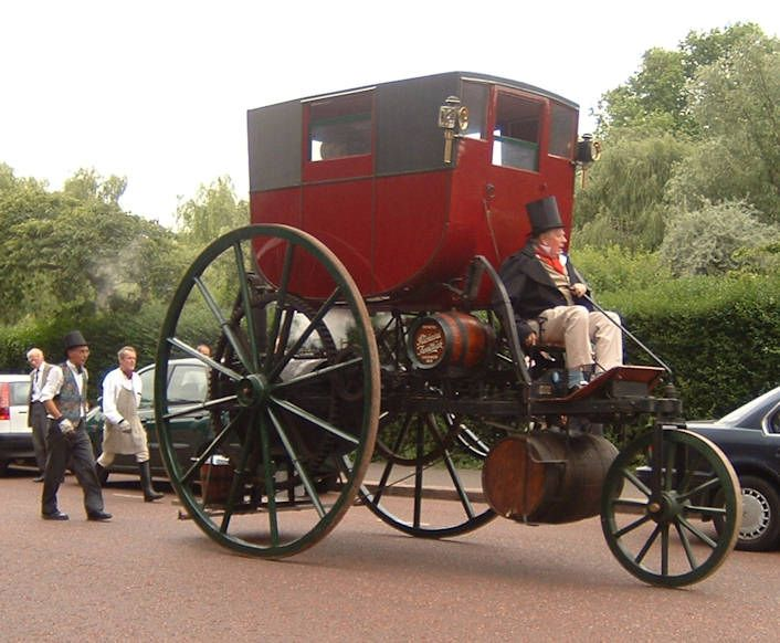 London Steam Carriage out on the street