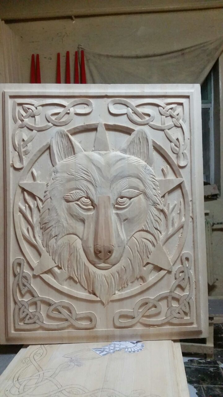 carving Wolf