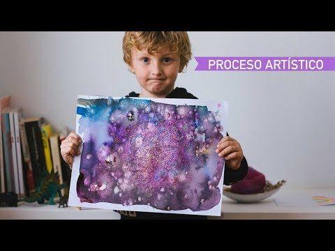 Actividad de proceso artístico con acuarelas y petazetas. - AEIOUTURURU | Talleres creativos para peques
