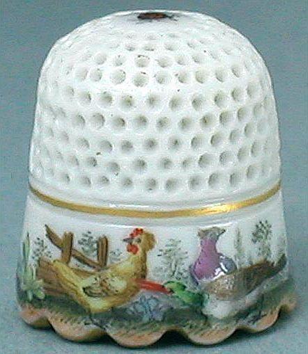 Meissen Antique Thimble (1740 Hand Painted Vintage Porcelain Thimbles…