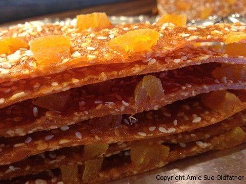 Honey Apricot Sesame Fruit Leather ~ Gourmet Edition ~Nouveau Raw