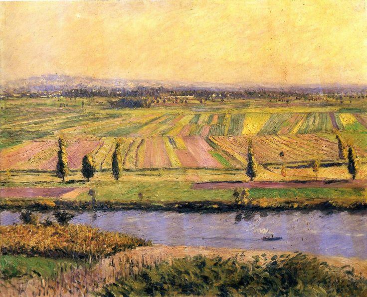 La plaine de Gennevilliers vue des coteaux d'Argenteuil (Caillebotte, 1888)