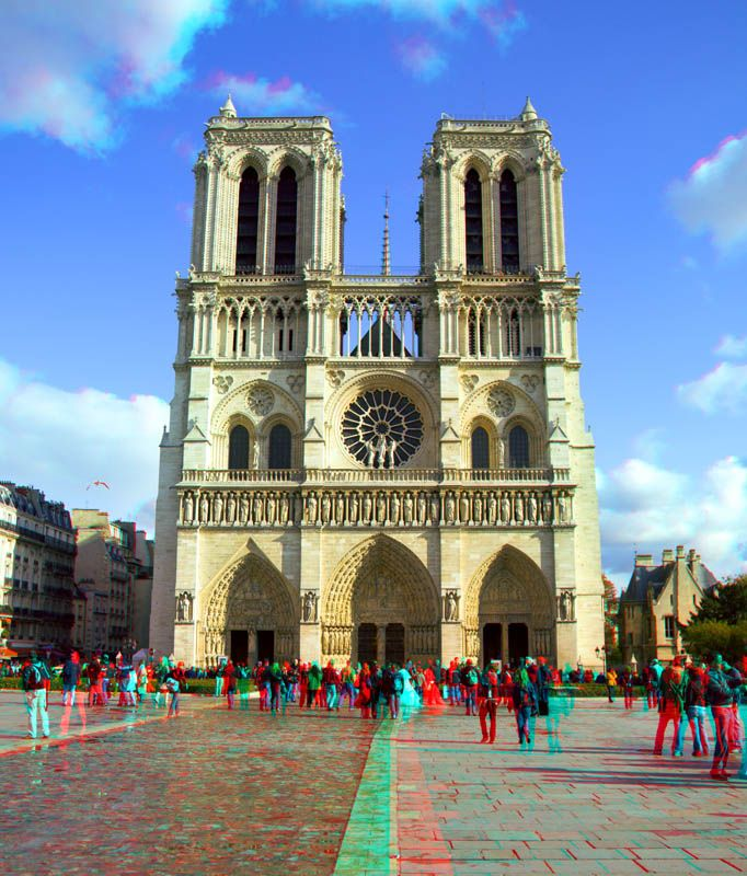Cathedral of Notre Dame in 3D - Paris - France
