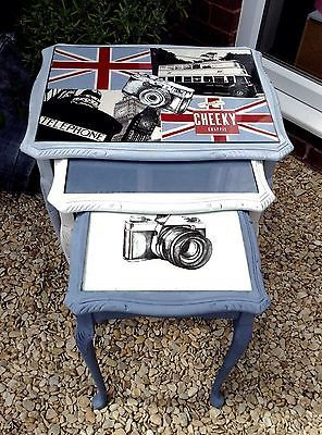 Up-cycled-Bespoke-London-Themed-Nest-of-Tables