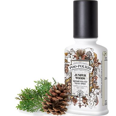 Be prepared when nature calls! Poo~Pourri Juniper Woods is a refreshing blend of juniper, eucalyptus and citrus natural essential oils.