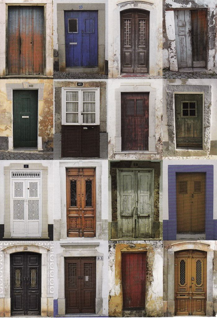 A photograph of beautiful doorways of tavira from a large collection available at Jane Gibbin´s shop Casa das Portas in Tavira