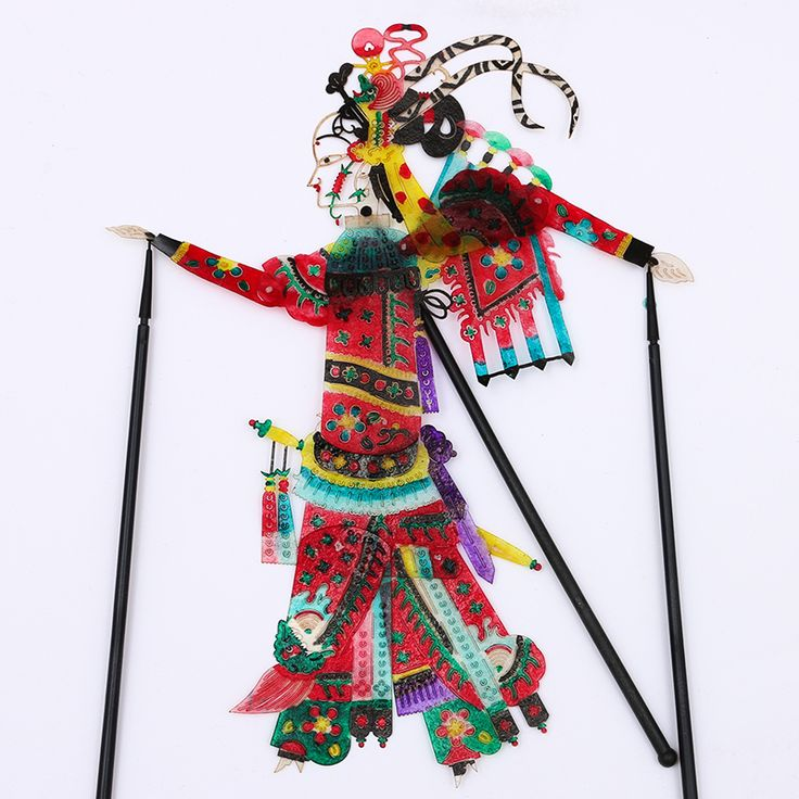 Shadow Crafts Xi'an Souvenirs New Hot Dynamic Shadow Shadow Liu Bei Props With Operating rod 0.07kg XCZG-026