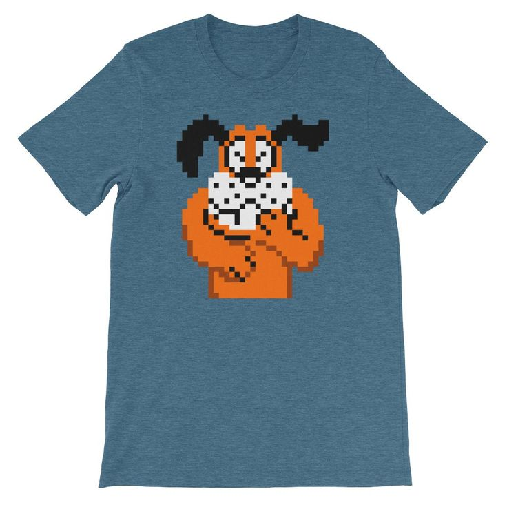 Duck Hunt Dog Laughing NES Retro Vintage Video Game Short-Sleeve Unisex T-Shirt