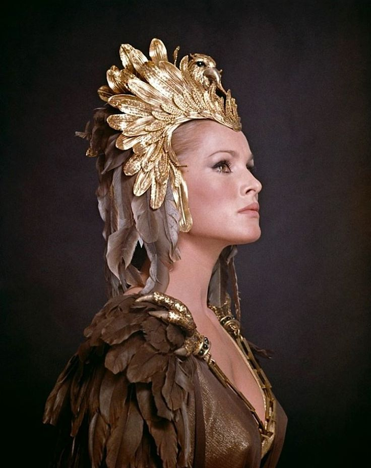 Ursula Andress as Ayesha in She a 1965 film made by Hammer Film Productions, based on the novel by H. Rider Haggard.It was directed by Robert Day and stars Andress, Peter Cushing, Bernard Cribbins, John Richardson, Rosenda Monteros and Christopher Lee.