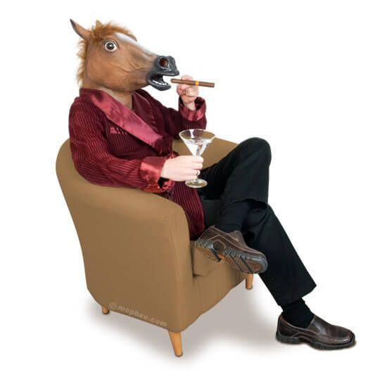 Carnavalsmaskers - feestartikelen - griezelig paard - scary horse