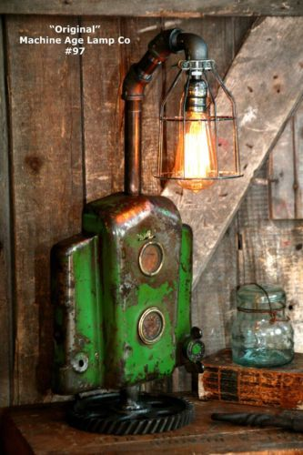 Tractor Bedside Lamp : Best images about barn wood lamp and lighting on