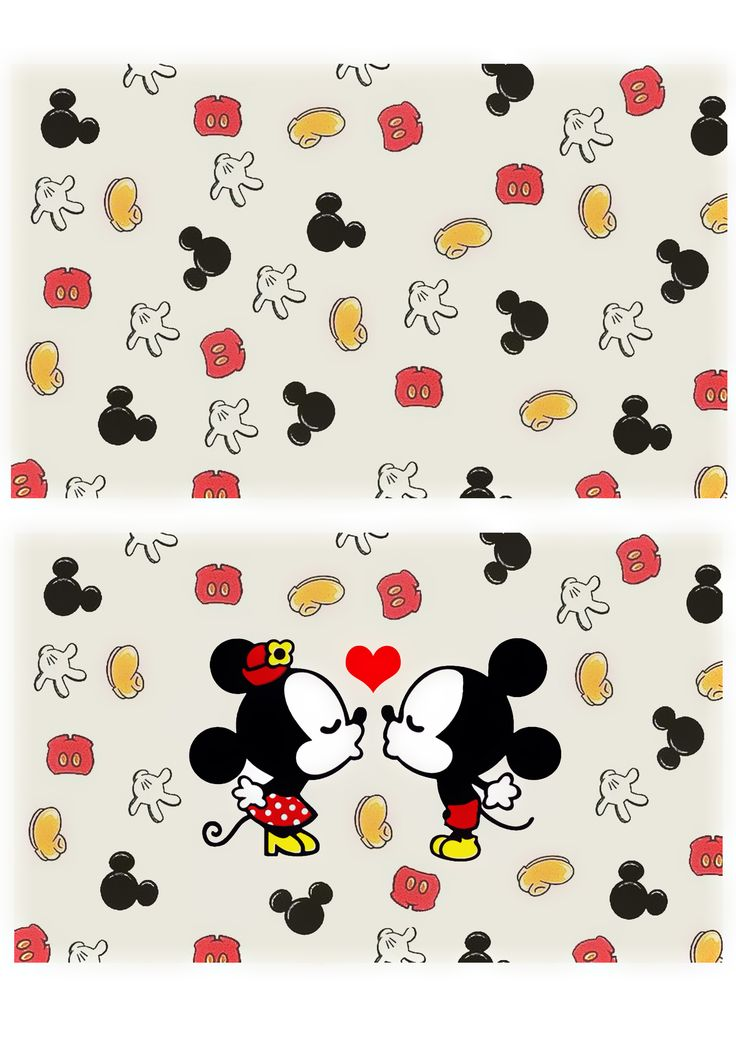 Molde Tecido Mickey e Minnie para necessaire