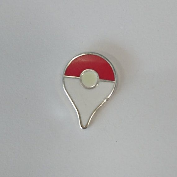 Pokemon GO map pins!  Show your love for Pokemon Go with this lovely pin.  They measure 20mm high by 15mm wide.  It features a glow in the dark…