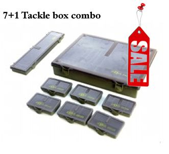 7+1 Tackle Box Combo. rig box. multi tackle box. | Discount Fishing tackle.Made Angling.Fishing Tackle.Carp Fishing.
