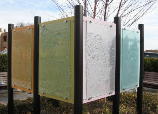 look at the pins holding the glass....could you use this as a privacy screen outside with opaque glass?