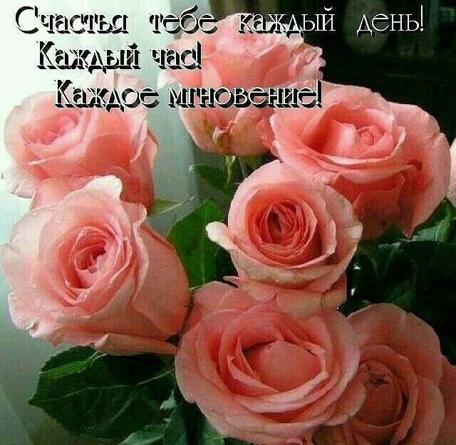 Анимированные, открытки с пожеланиями счастья с розами