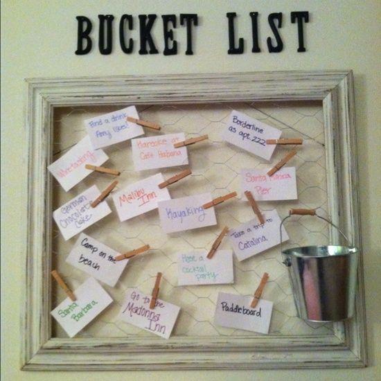 An inspiring craft: make a bucket list.