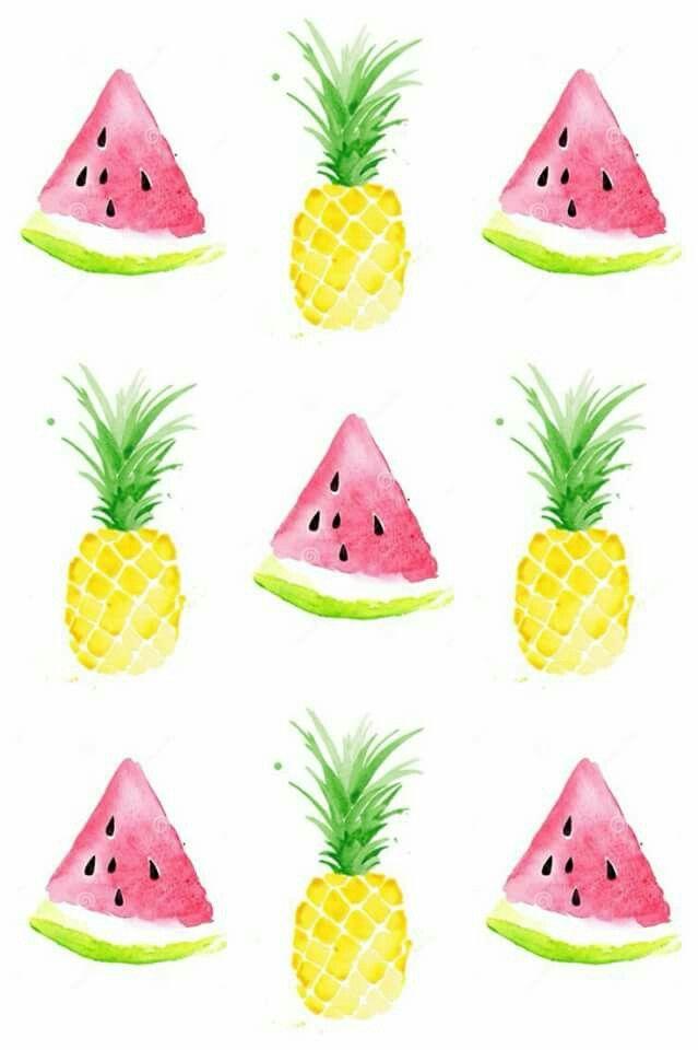 Wallpaper De Pantalla Pineapple Watermelon