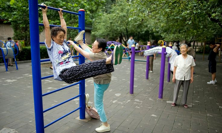 Never too old to play: playgrounds for the elderly – in pictures