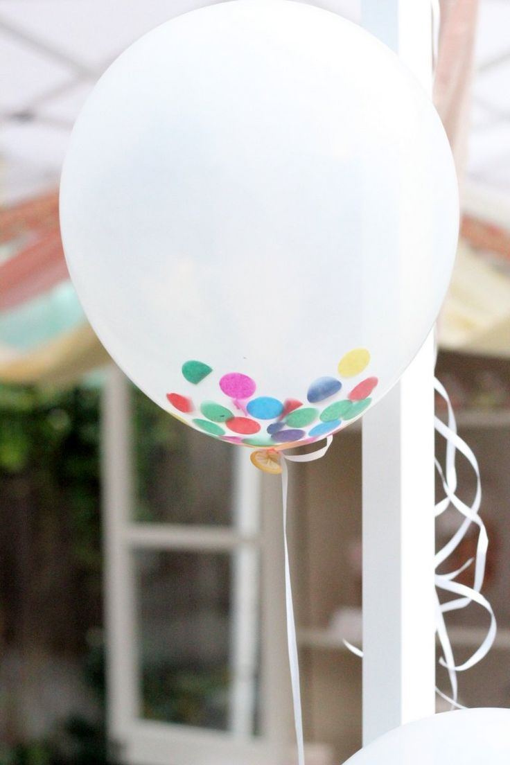"""how to make confetti filled """"sprinkle"""" balloons   Kojo Designs"""