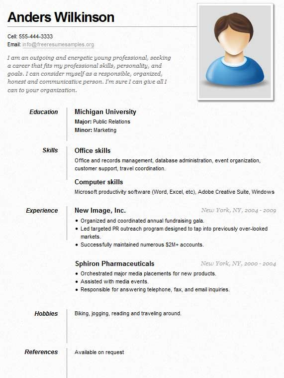 40 best Resume Templates images on Pinterest Curriculum, Resume - hobbies resume examples
