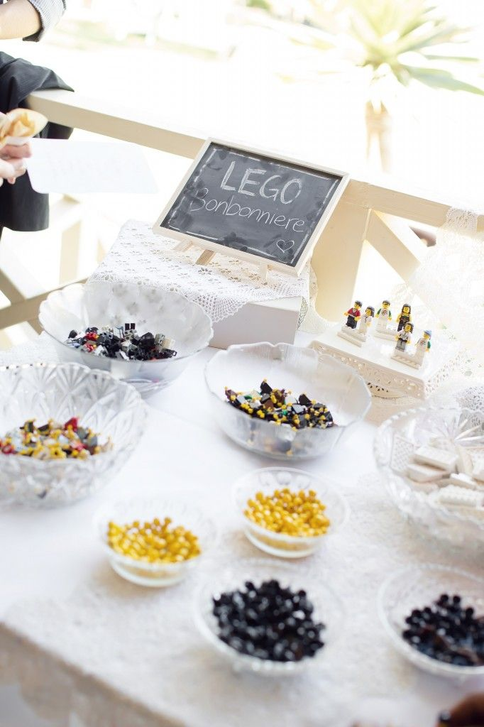 LEGO Wedding Favours / YES! Build your own mini figure! They sell body parts at Lego store.