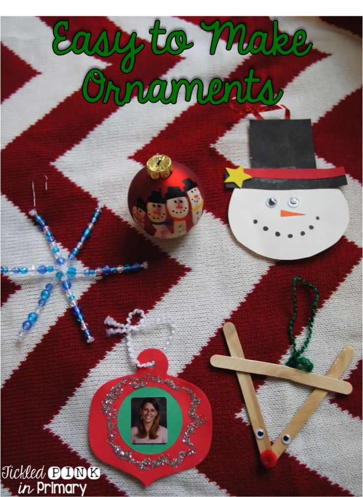 5 Simple Ornaments For Your Students To Make