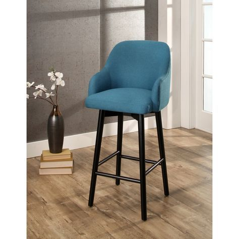Abbyson Abbott Upholstered 32-inch Bar Stool (Teal), Green (Acrylic)