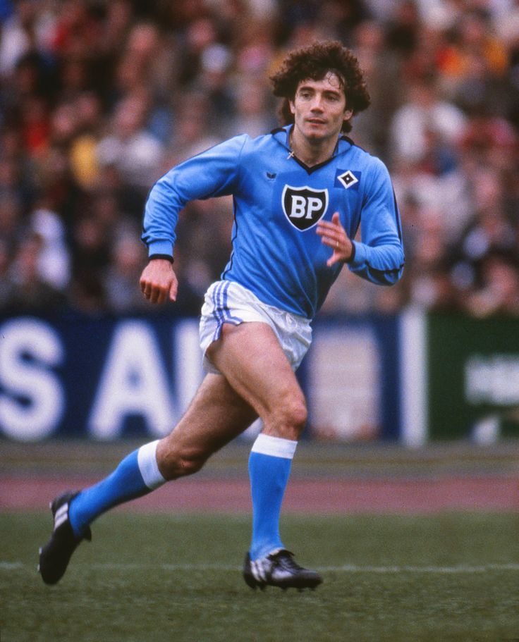Two time European Footballer of the Year, Kevin Keegan, playing for Hamburg SV
