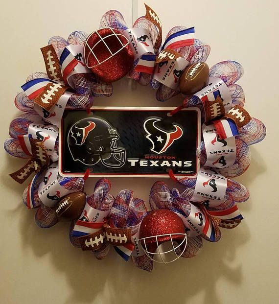 Houston Texans Wreath  Toro  NFL  Deco Mesh & Ribbon