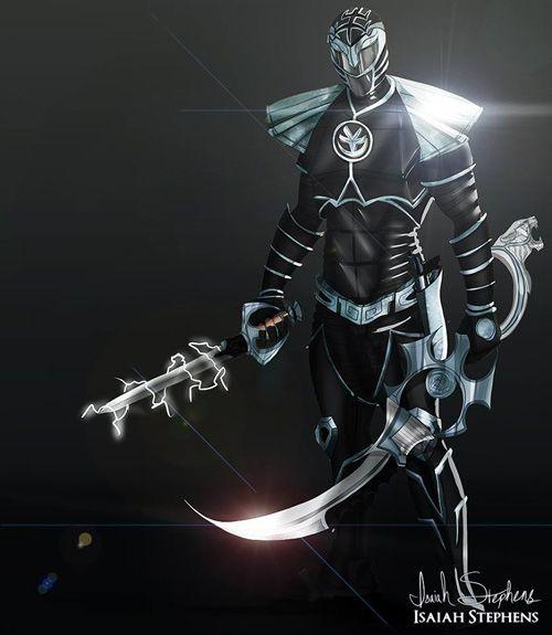 Dark Power Rangers Redesign Fan Art