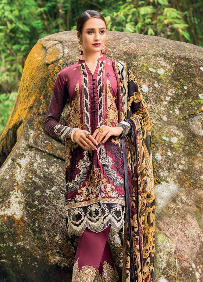 698cb87afb Zainab Chottani Embroidered Lawn Unstitched 3 Piece Suit ZC19L 1A VICTORIAN  FRESCO - Spring / Summer Collection