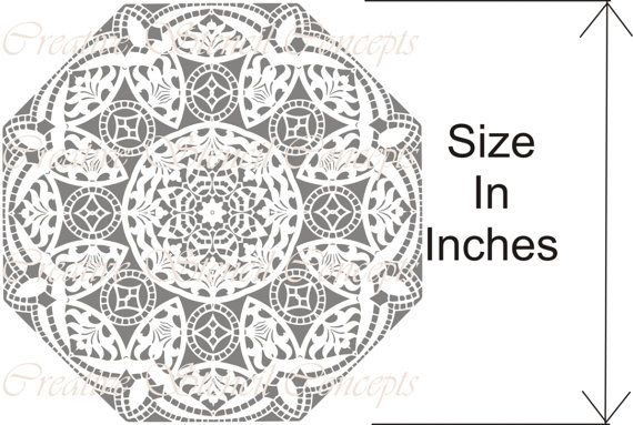 Traditional Mandala Decorative Stencil by CreativeStencils