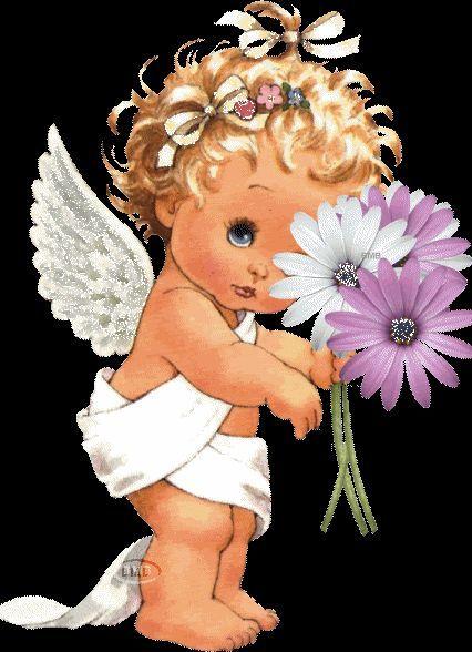 Картинки анимашки ангелочек, вернулась вам