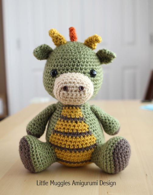 Free Printable Amigurumi Animal Patterns : Amigurumi Crochet Pattern - Spike the Dragon Etsy store ...