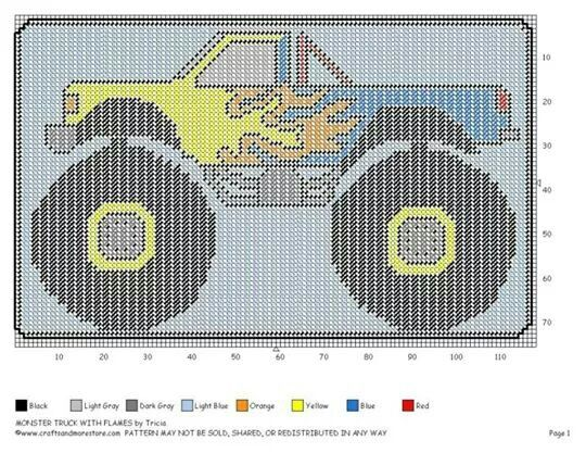 Monster Truck wall hanging