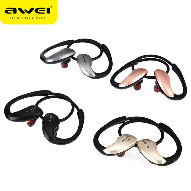 Awei A885BL Wireless Sports Headphone Headset Stereo Bluetooth Earphone Music With Mic APT-X Hifi Sound Quality