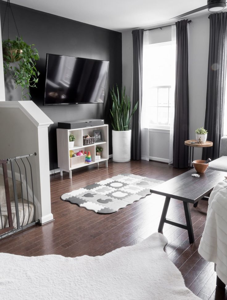 Modern Minimal Townhome For A Family Of Three And Two Cats Townhouse Decorating Townhouse Living Room Decor Scandinavian Design Living Room